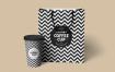 咖啡纸杯样机手提袋模板素材展示效果图Paper Cup Mockups