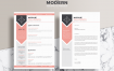 设计师和开发人员简历与求职信ModernResumeCVTemplateForDesignersandDevelopersWithCoverLetter1