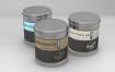 圆形锡罐Vol.1包装样机素材  展示效果图Round Tin Cans Vol 1 Packaging Mock Ups