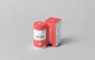 药瓶包装盒包装瓶样机模板展示效果图Supplement Jar Box Mock Up 4