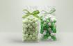 透明糖果袋与丝带包装袋子设计样机Nose Drops Mock Up 3