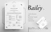职场商业简历模板展示ResumeCV Bailey