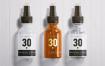 化妆品喷雾塑料瓶展示样机 Spray Bottles Mockup