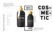 精致多种模板化妆品样机展示Cosmetic Vector Mockup Black Bottle