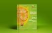果汁店/ A3海报和汇总模板Fruit Juice Shop A3 Poster and Rollup Template