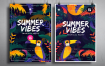 热带夏季海报模板素材Tropical Summer Posters