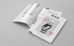 时尚女性生活类杂志样机模板展示样机A4 Magazine Mock up 2