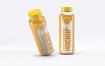 果蔬料理样机包装瓶素材模板展示Smoothie Plastic Bottle Mock Up