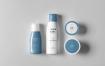 洗化用品套装组合样机模板  智能贴图样机素材Cosmetic Mock up 8