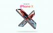苹果手机模板样机展示素材iPhone X Mockup PSD