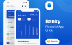 金融套装模板下载 iOS Ui app设计UI素材Banky – Finance App UI Kit