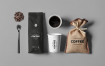 高端咖啡模包装板样机素材下载Coffe Mockup F63767