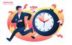截止日期创意插画设计表达素材下载Deadline Vector Illustration