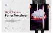 数字视觉音乐海报模板Digital Vision Music Poster Template