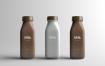 牛奶包装瓶样机素材模板展示Milk Bottle Packaging Mock Up Czt5zt