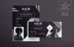 美发沙龙传单和海报模板Hair Salon Flyer and Poster Template XKZUV4