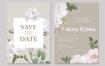 花艺婚礼邀请卡模板Floral wedding invitation card Template Wjykxp3