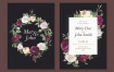 花艺婚礼邀请卡模板Floral wedding invitation card Template Du3l8ay