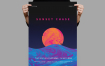 落日渐变风海报/传单模板展示素材Sunset Chase Poster Flyer