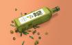 优质的玻璃瓶样机橄榄油玻璃瓶样机模板素材下载