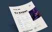 活动计划宣传类海报/传单模板 Schedule event poster template, vol2
