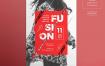 创意设计会议海报/传单模板Fashion Meeting Poster Template