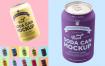 易拉罐平铺展示样机素材模板Soda can mockup Bvs747
