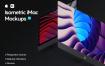 多场景电脑模板展示样机素材Isometric iMac Mockup 2.0