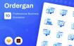 10个独特图标插图APP空状态图标ICON小插画Ordergan icon illustration