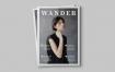 漫步杂志画册模板样机素材下载Wander Magazine