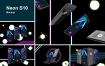 三星手机写实多场景模板展示 素材样机Neon S10 Mockup 49cbnqz