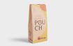 实拍食品自封袋样机模板多角度展示素材Cardboard Pouch Mockups