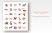 动物系列扁平化图标源文件下载Animals Fish and Birds set of flat vector icons