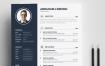 黑色简约现代简历模板 Modern Resume 3 Pages