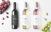 白葡萄样机展示效果  场景样机模板Wine Bottles Mockup Vol 2
