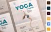 瑜伽教练海报/传单模板展示Yoga Instructor Poster