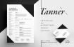 黑色高端简约商务简历求职信名片模板素材bilmaw Resume Tanner Files