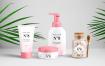 精致化妆品套装智能贴图样机展示 Cosmetics Packaging Psd Mockup