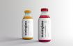 果蔬料理样机瓶包装样机  素材样机智能贴图样机Juice Bottle Packaging Mock Ups Vol 2