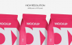 食品自封袋样机展示智能样机贴图Flow Pack Mockup Matte 3704942