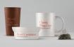精致咖啡杯茶杯样机品牌办公样机模板素材Tableware Psd Mockup07
