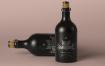 艺术类黑色精致酒瓶样机模型素材下载Dark Psd Liquor Bottle Mockup Vol2