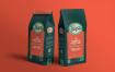 多角度PSD咖啡包装袋样机展示4 Coffee Pouch Mockups