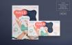 美甲沙龙传单和海报模板Nail Salon Flyer and Poster Template 3xpqsu