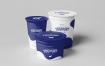 酸奶不同尺寸包装盒样机素材模板展示下载Yoghurt Cup Mock up 2