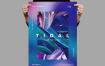 油画色彩笔触模板素材传单/海报模板Tidal Flyer Poster Template