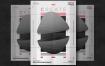 白色和黑色的创意海报/传单模板White and black creative poster template