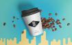 多角度咖啡场景样机智能贴图148 coffee cup mockup