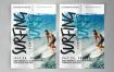 冲浪比赛传单和海报素材模板Surfing Competition flyer & poster