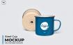 多角度搪瓷咖啡杯素材样机智能贴图Steel Cup Mockups